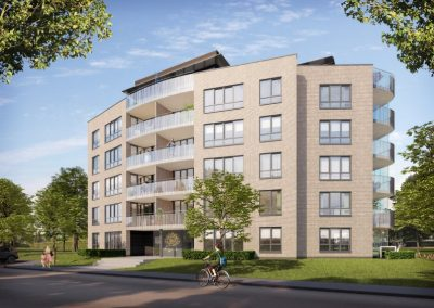 Construction of 22 private apartments at De Lelie Park Malderborgh in Nijmegen